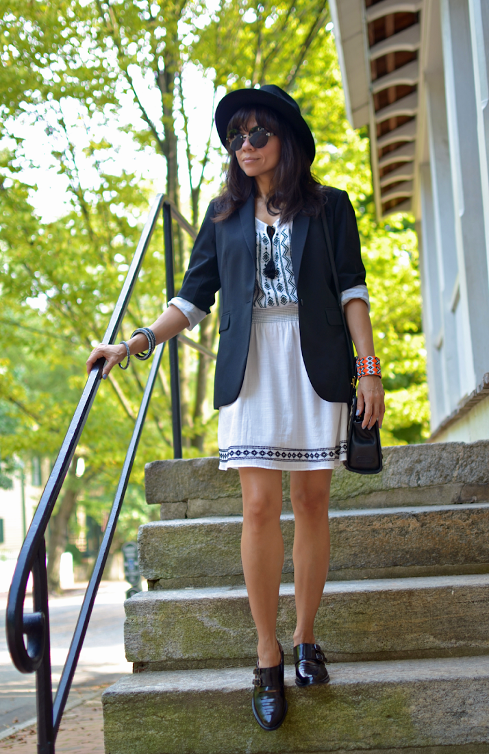 White Dress With Brogues