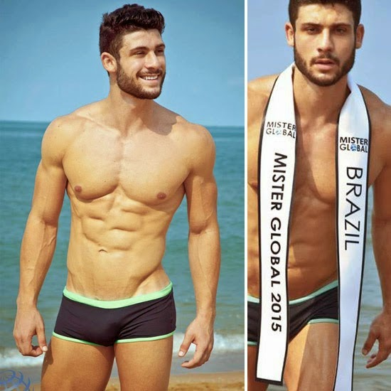 21 Jejaka Mister Global 2015 Seksi Dalam Swimwear Photoshoot