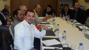 المدير المالي للحزب الاستاذ سليمان المالطي الاول والمساعد له الاستاذ محمد المزوغي الثاني