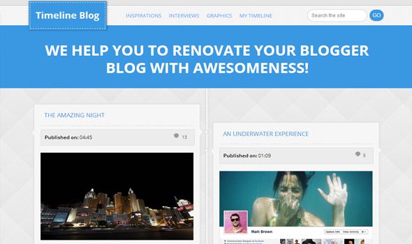 Timeline Magazine Blogger Template Templateism - Timeline blogger template