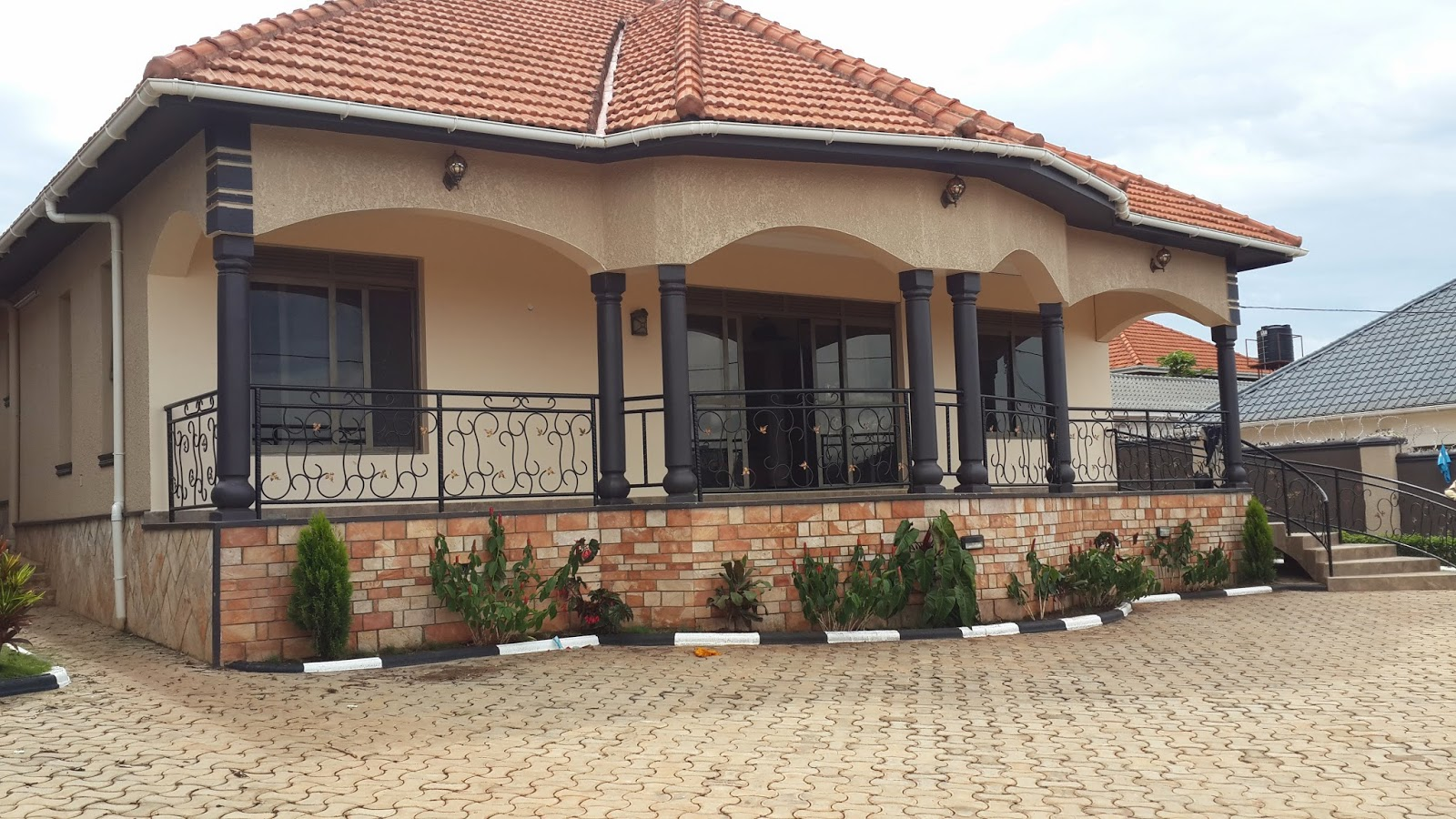 Ugandan Houses With Balconies