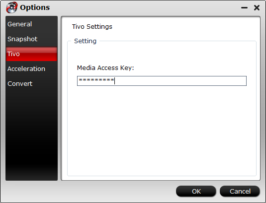 Enter Media Access Key
