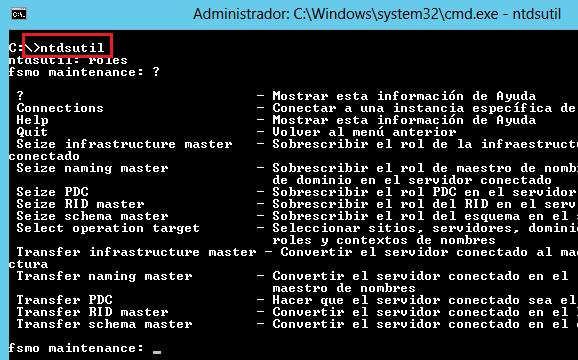 Active Directory: Mover los roles FSMO con PowerShell