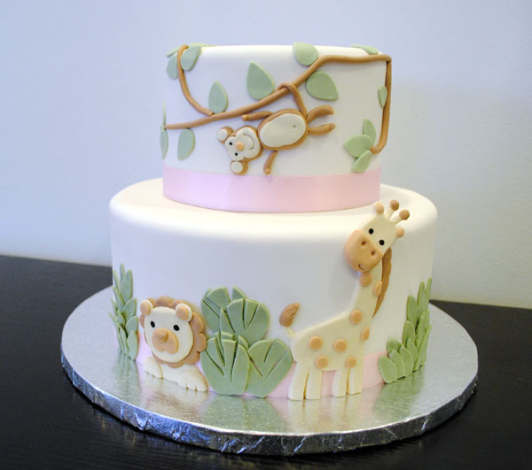 this adorable baby animal cake for nicole s baby shower nicole
