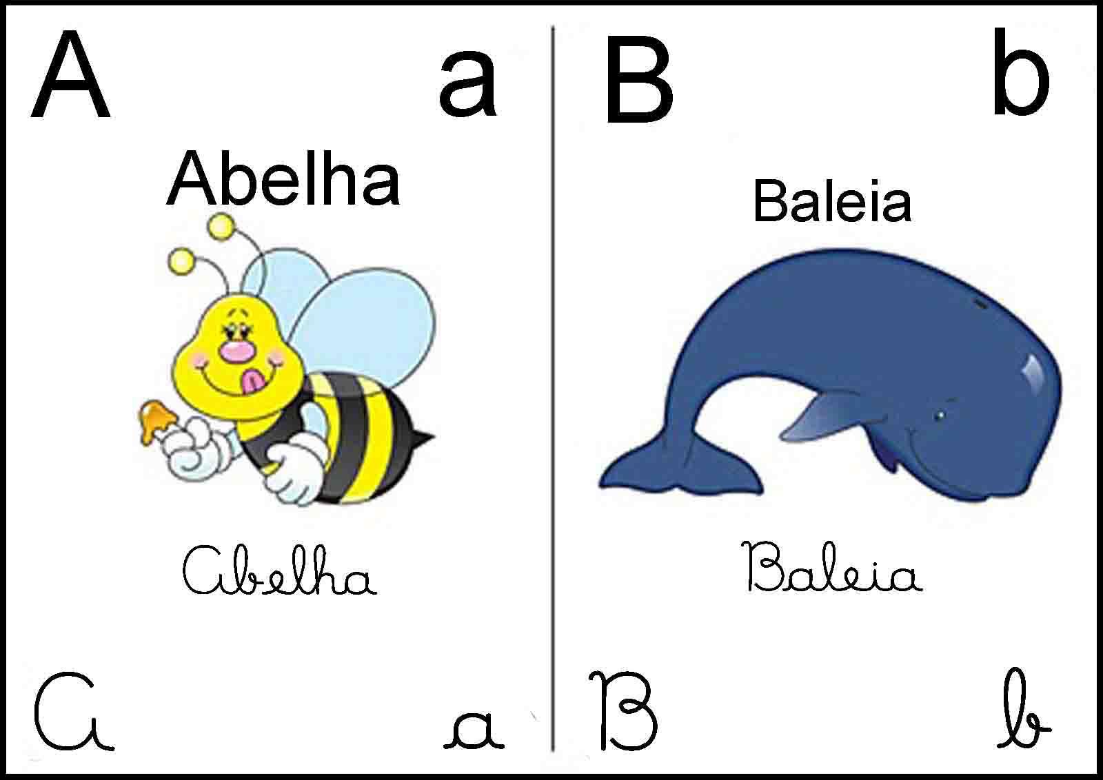 Pequeno Infante Alfabeto Ilustrado -> Desenhos Para Alfabeto Ilustrado