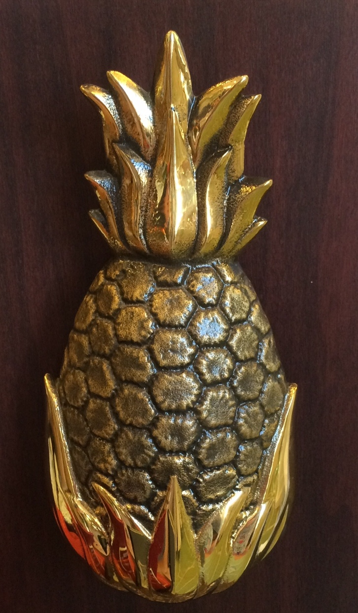 Maryland pink and green shopping sightseeing perfection - Pineapple door knocker ...