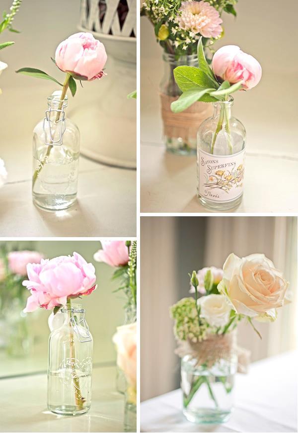 Weddings in Spain: Wedding decorations: Crystal, jars and jugs