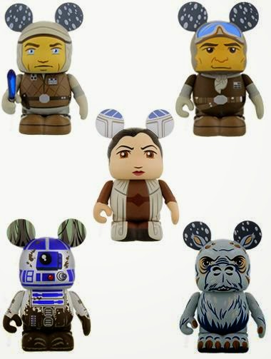 Star Wars Vinylmation Series 4 by Disney - Hoth Luke Skywalker, Hoth Han Solo, Bespin Leia Organa, Dagobah R2-D2 & Tauntaun