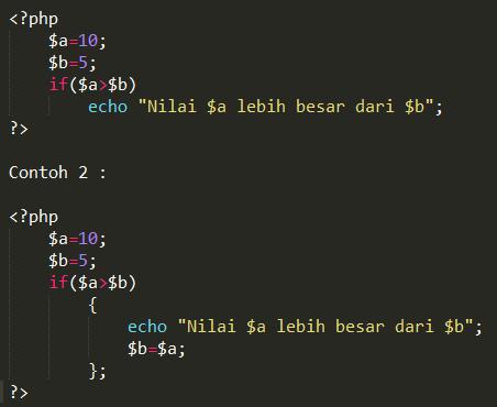 Menggunakan IF Didalam Pemrograman PHP