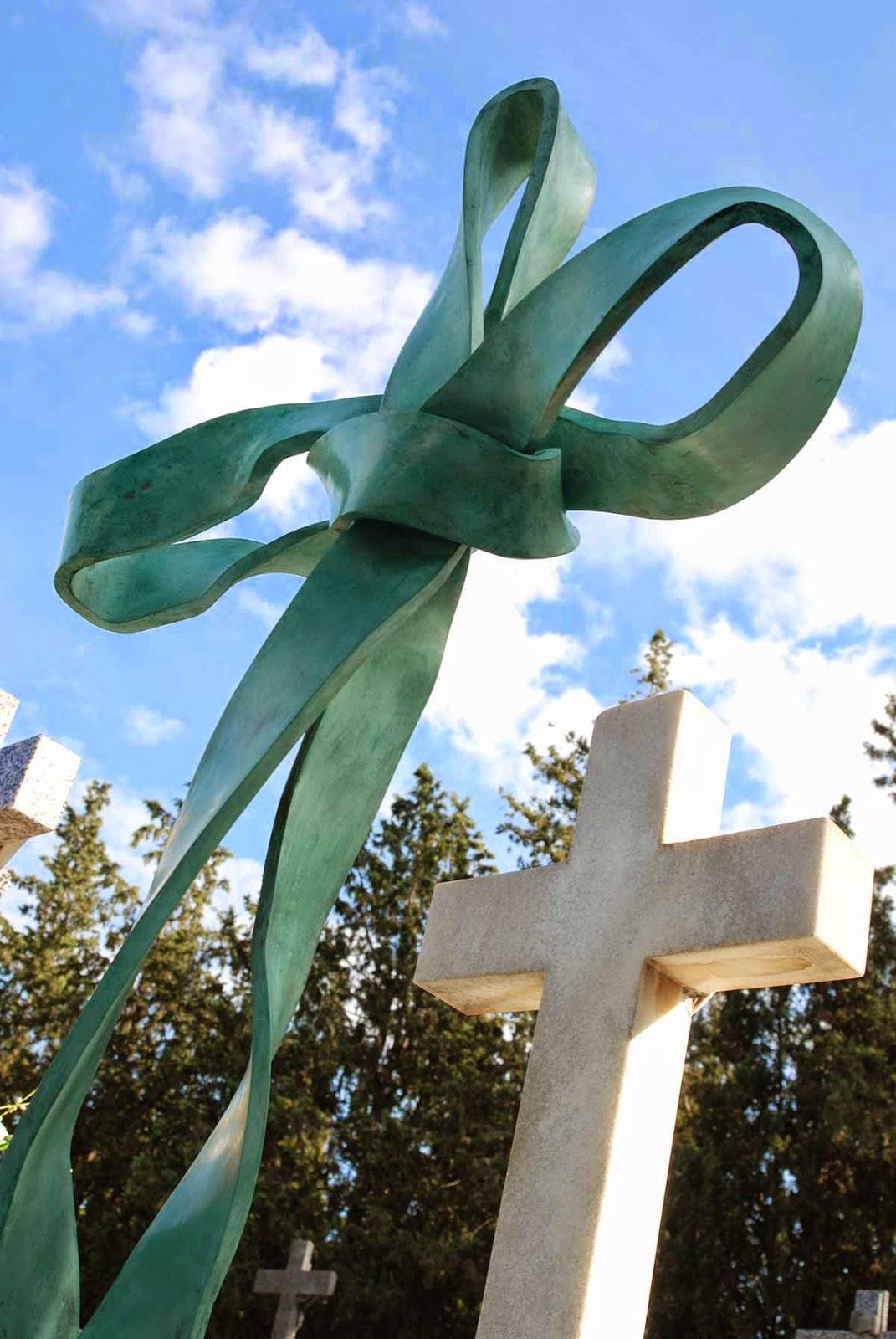 Monumento bronce cementerio Murcia Arturo Serra escultura 2