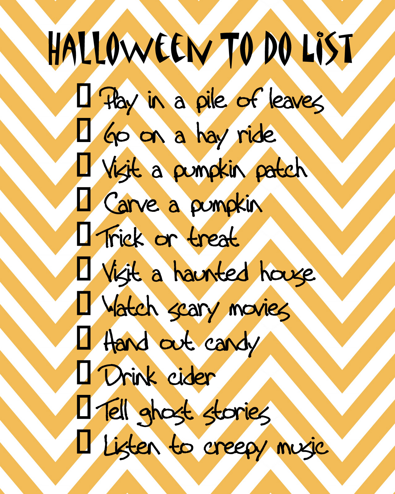 every little breeze seems to whisper louise: halloween to do list