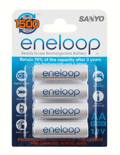 Eneloop rechargeable AA batteries