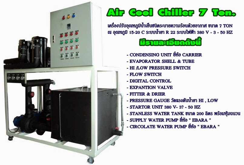 Air Cooled Chiller 7 Tons.
