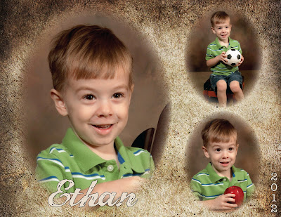 Ethan's preschool collage