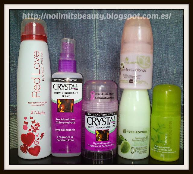 Productos terminados: especial desodorantes