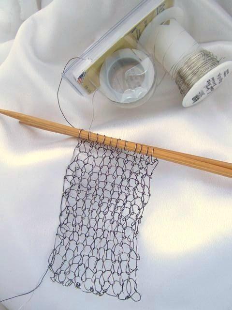 Wildflower Designs: My Creative Space ... Wire Knitting