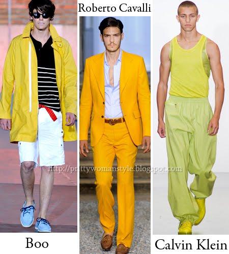 Жълти мъжки дрехи