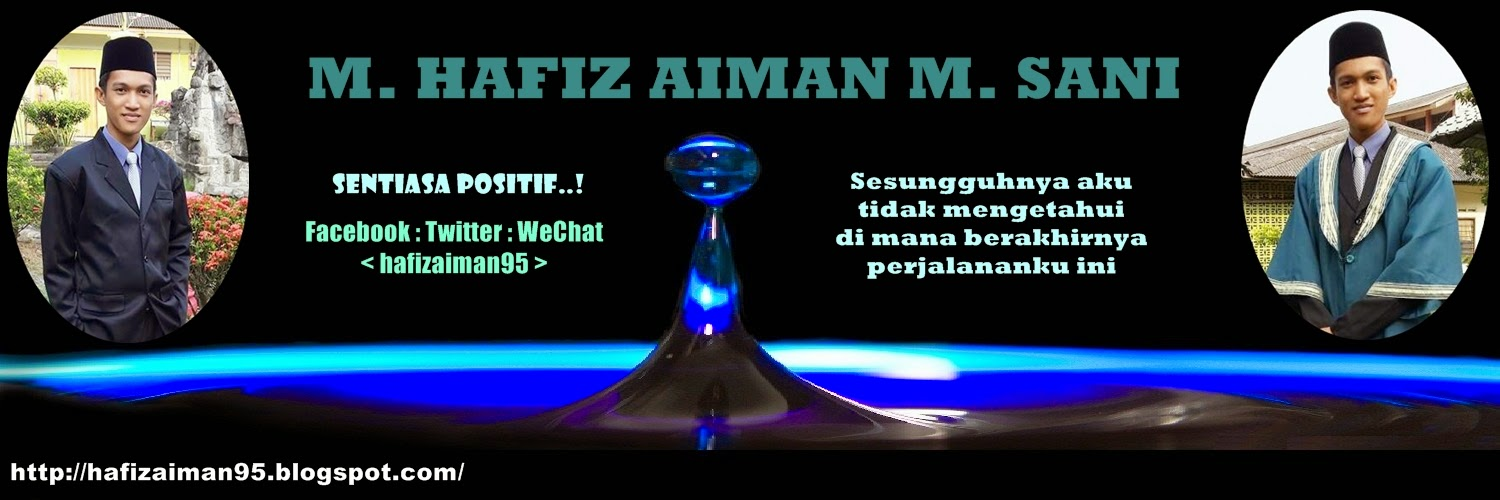 Hafiz Aiman Official Blogsite