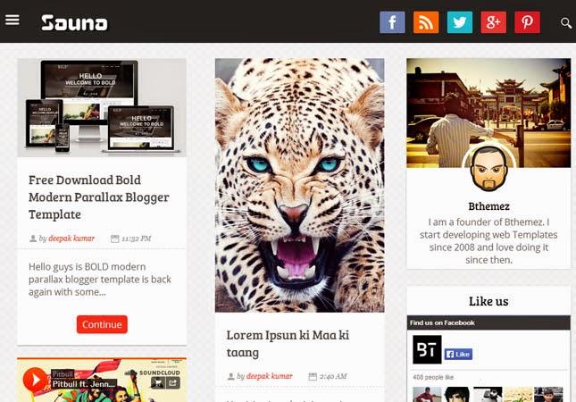 Sauna Responsive Blogger Template