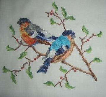 Birds Cross Stitch Embroidery Design ~ Free Machine Embroidery Designs