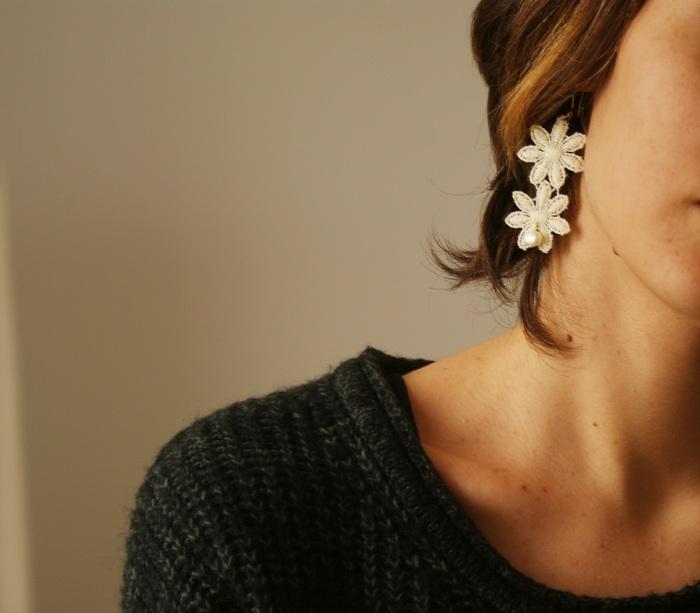 wedding earrings diy lace