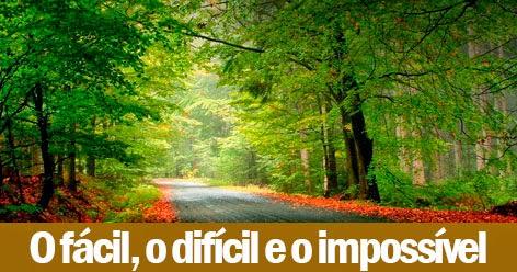 O Fácil, o Difícil e o Impossível