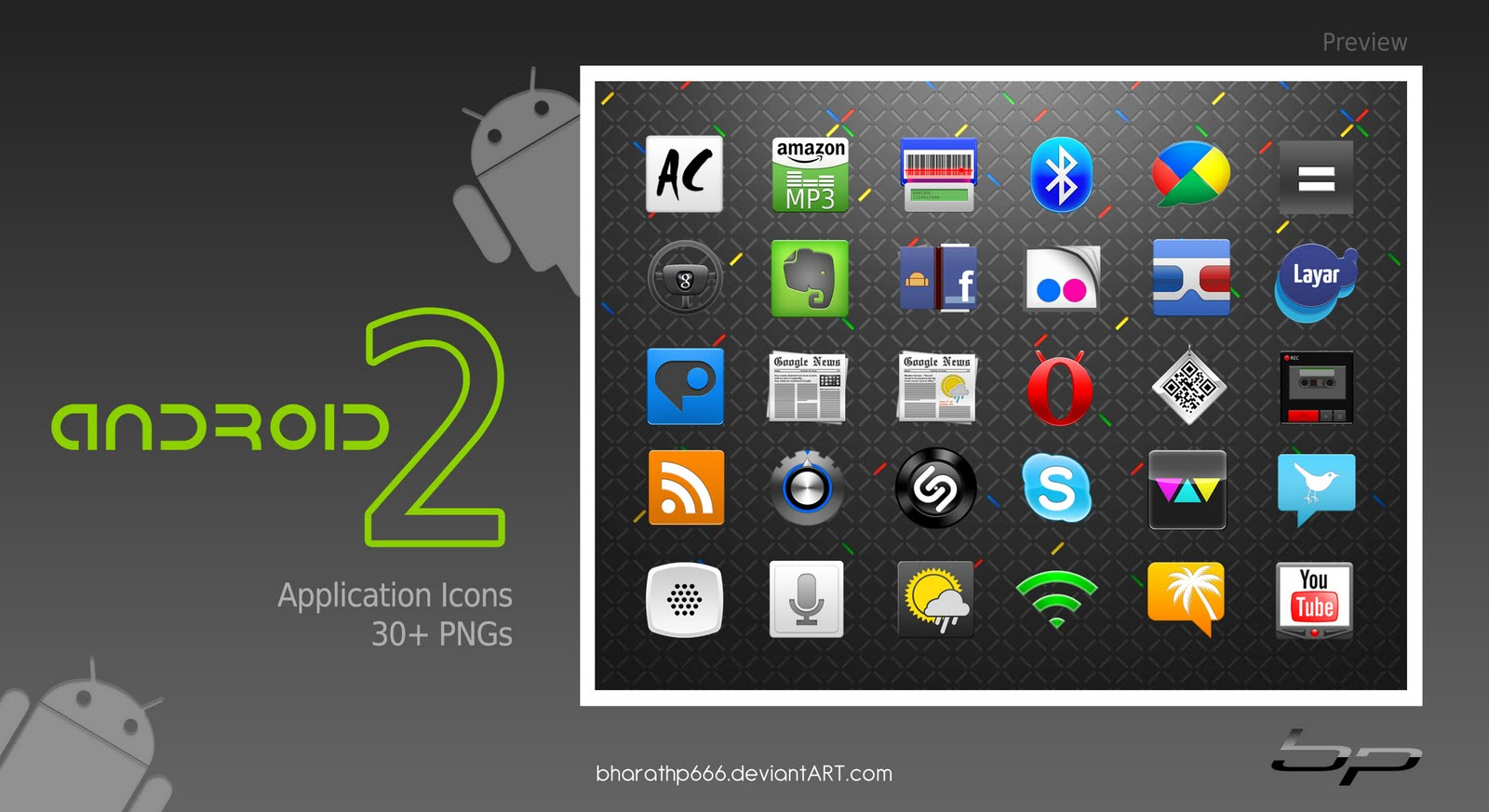 Vector Native Android Icons Pack for GUI