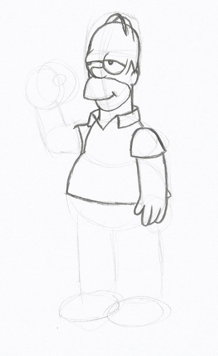 como desenhar homer simpson ranimaart