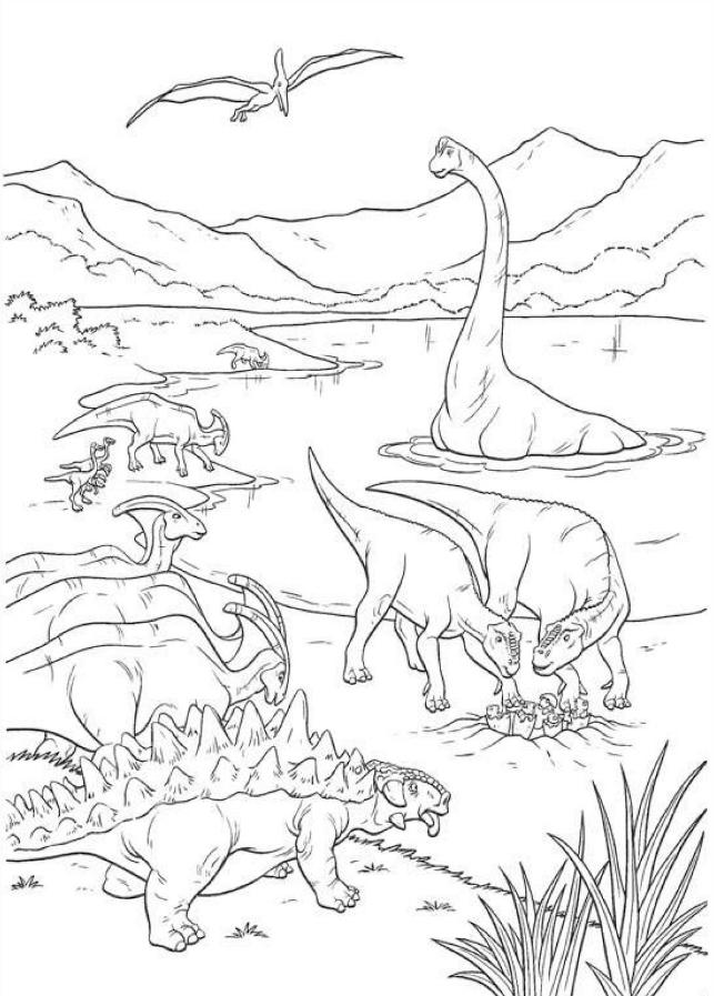Dinosaurios para colorear: Dinosaurios para colorear