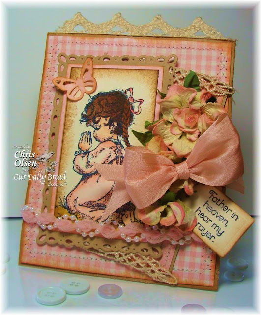 Our Daily Bread Designs, Chris Olsen, Precious Girl, Gingham Background