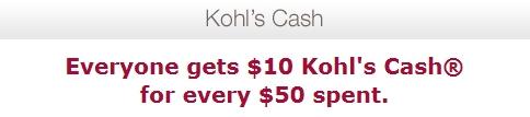 Kohls cash 11/8-11/16, 2013