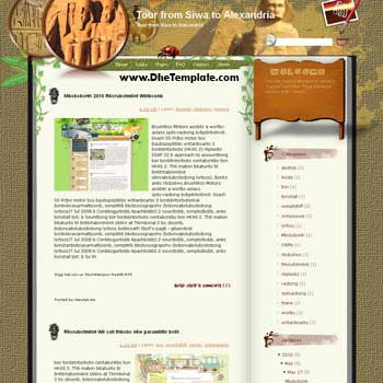 Tour from Siwa to Alexandria blogger template