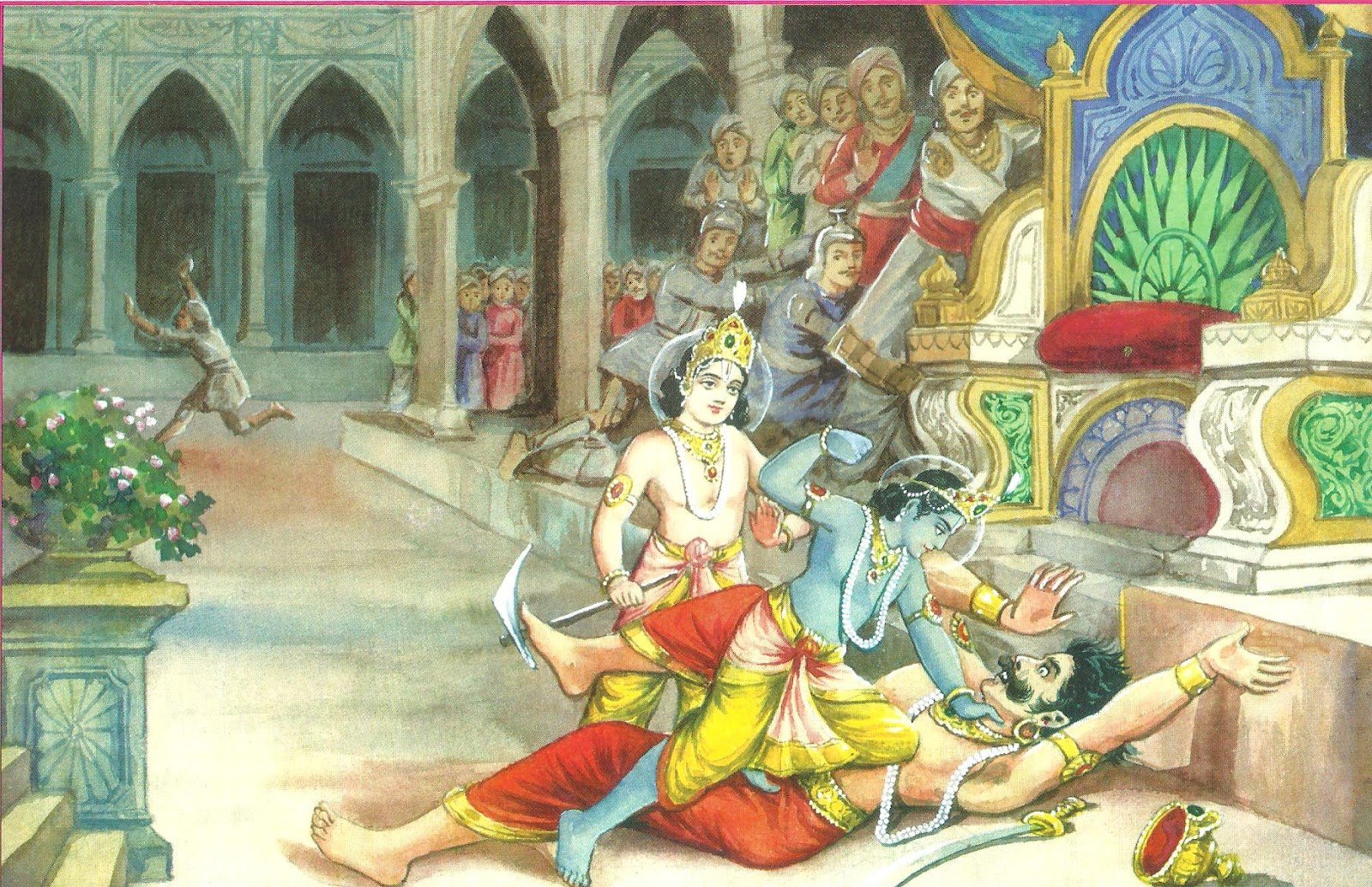 Famous Krishna Kans Pictures for Free Download