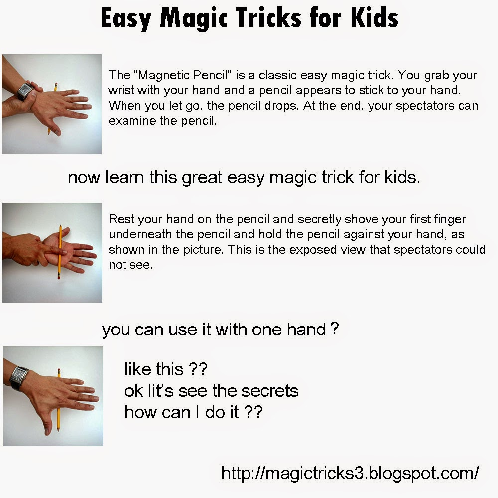 magic tricks: Easy Magic Tricks for Kids - Magnetic Pencil