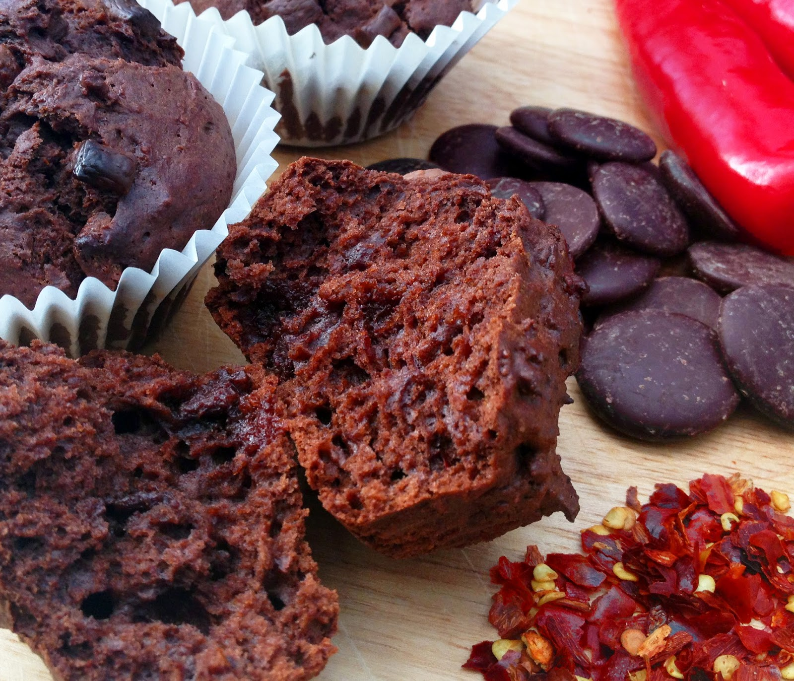 chilli chocolate muffins