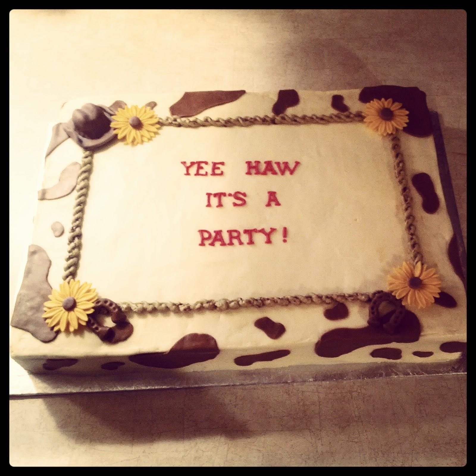 Second Generation Cake Design Country Western Birthday Slab Cake