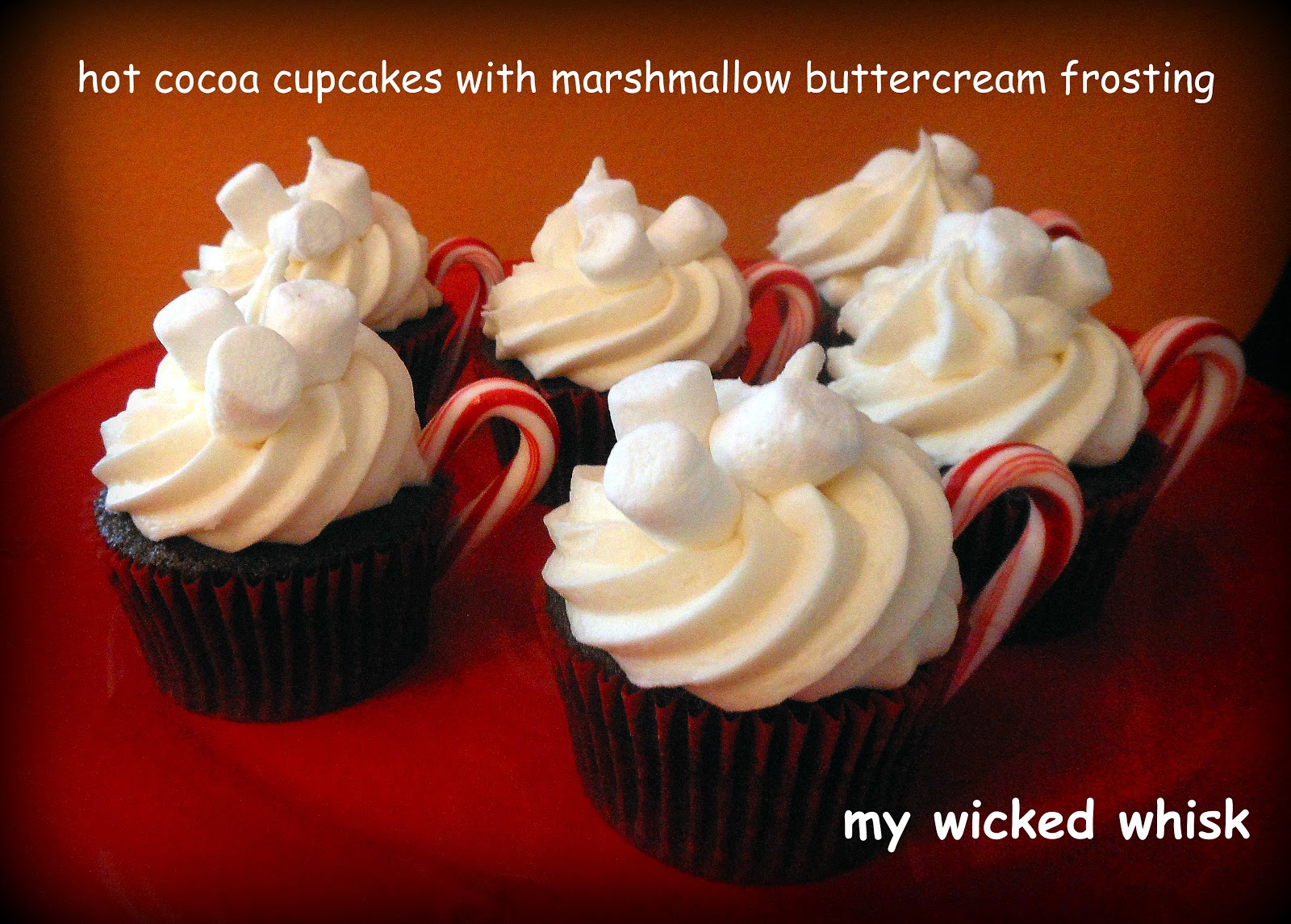 My Wicked Whisk: Hot Cocoa Cupcakes with Marshmallow Buttercream ...