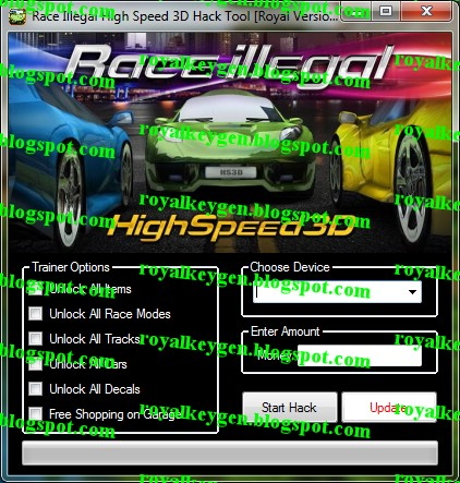 Royal Cheats: Race Illegal High Speed 3D Hack Tool [FREE Download