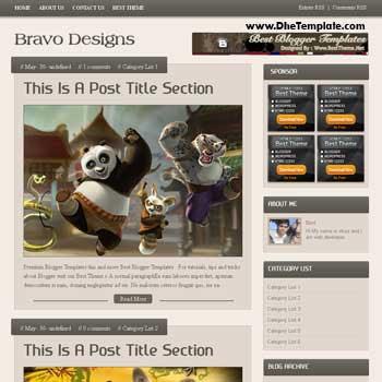 Bravo Design blogger template
