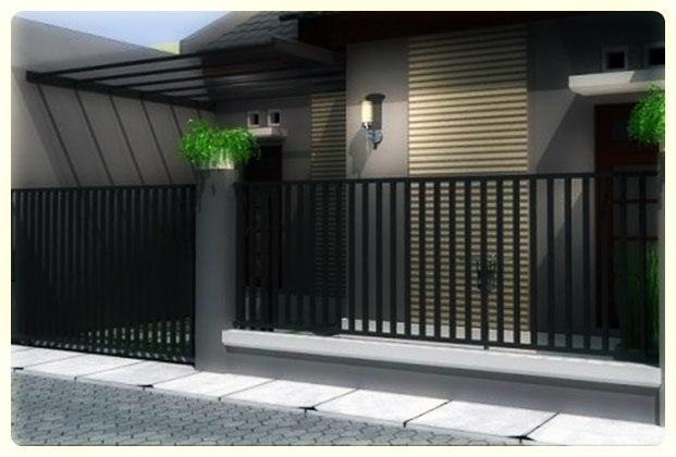 Contoh Pagar Rumah Minimalis Modern