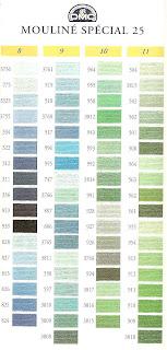 DMC - Tabela de cores
