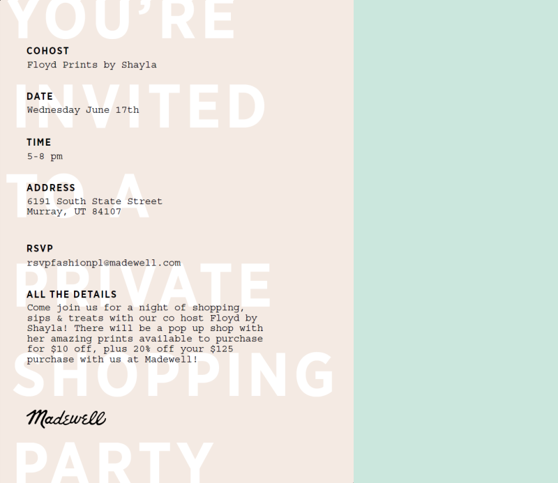 madewell event | mark your calendars