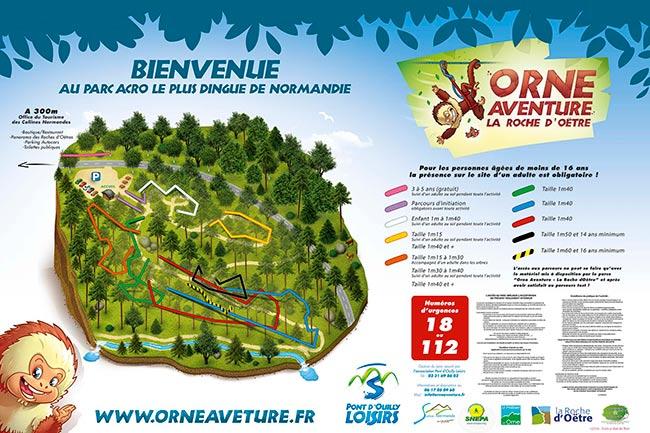 plan pour un parc d'accrobranche réalisé sous photoshop cs6