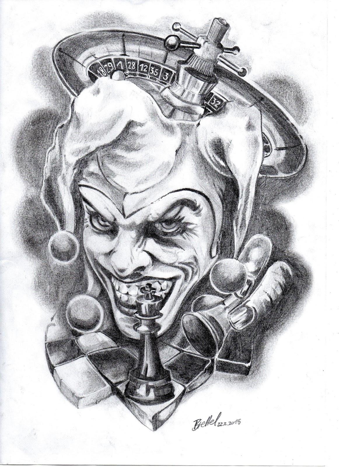 joker drawings tattoo