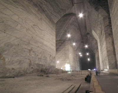 Unirea Salt Mine, fenced area where access is forbidden, Slanic Prahova