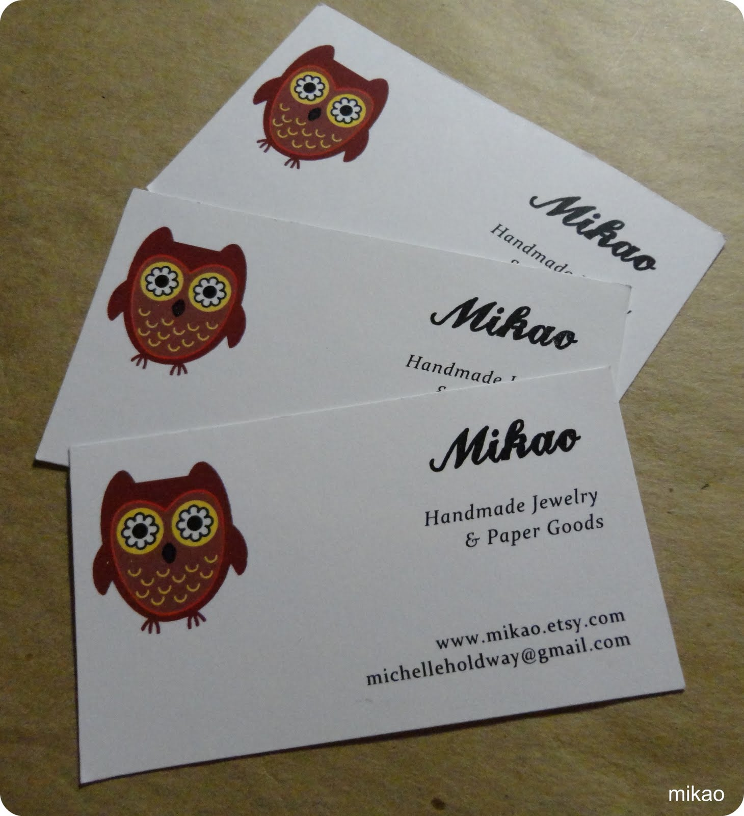 Love, Mikao: New Business Cards!
