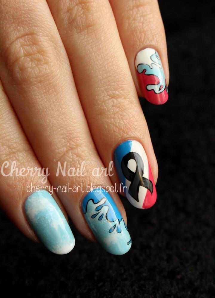nail art je suis charlie