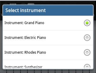 memilih suara piano android