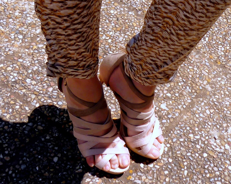 sandalias nude