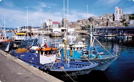 Vista detalle puerto de Vigo
